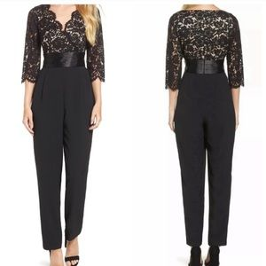 Eliza J | Black Lace Jumpsuit Women's 6 Petite